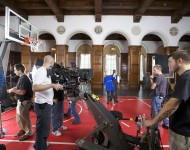 Filming with comedian Kevin Hart for Nike/ Jordan Brand DP Brook Aitken