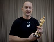 director of photography Brook Aitken w/ Oscar Award