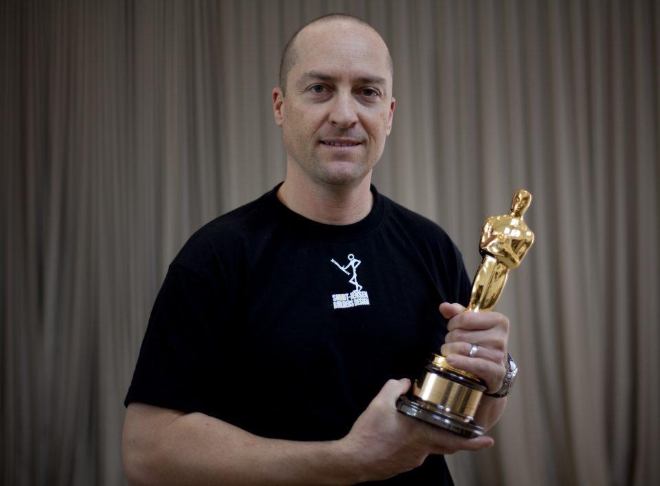 director of photography Brook Aitken w/ Oscar Award